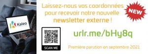 Les inscriptions pour recevoir notre newsletter externe sont lancées!